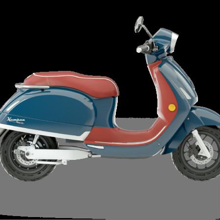 Riders Vision Scooter Kumpan 54 blauw rood motor