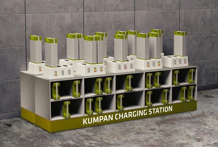 Kumpan Charging station - elektrische deelscooters